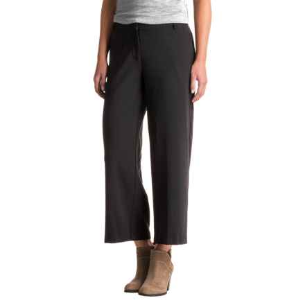 Kensie Crepe Pants - Wide Leg (For Women) in Black - Closeouts