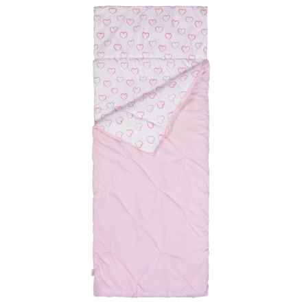 Kensie Heart Pintuck Sleeping Bag (For Girls) in Pink - Closeouts