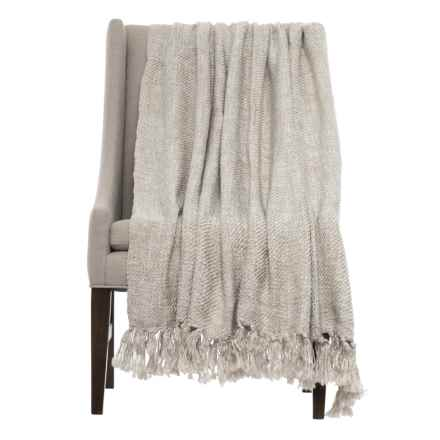 "Kensie Home Woven Throw Blanket - 57x80"" in Taupe Cream - Closeouts"