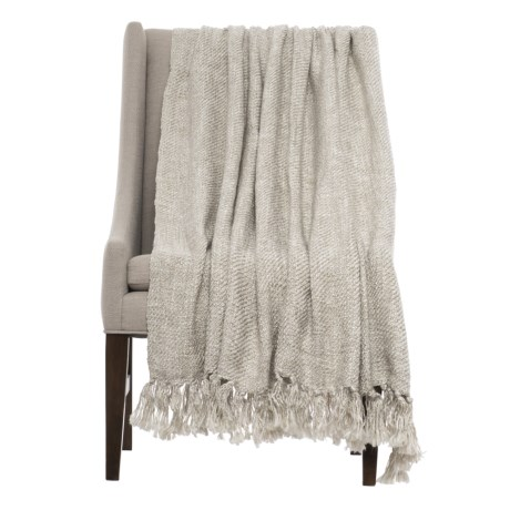 "Kensie Home Woven Throw Blanket - 57x80"" in Taupe Cream"