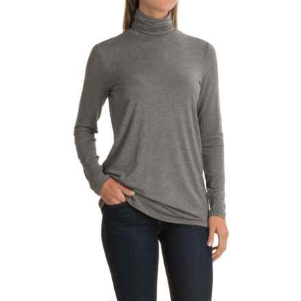 Kensie Jersey-Knit Turtleneck - Long Sleeve (For Women) in Ash Heather - Closeouts