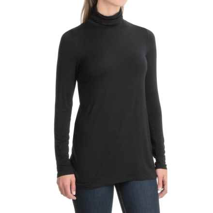 Kensie Jersey-Knit Turtleneck - Long Sleeve (For Women) in Black - Closeouts