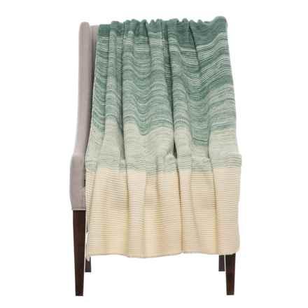 "Kensie Knowloon Throw Blanket - 50x60"" in Jadeite - Closeouts"