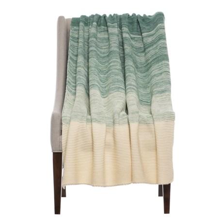 """Kensie Knowloon Throw Blanket - 50x60"""" in Jadeite"""