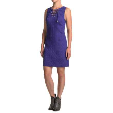 Kensie Laced-Neck Dress - Sleeveless (For Women) in Electric Purple - Closeouts