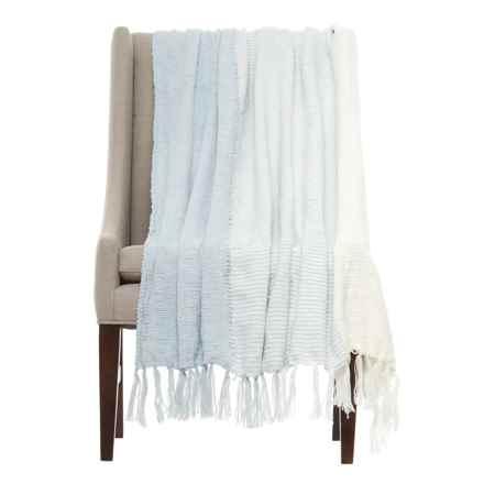 "Kensie Merge Throw Blanket - 50x60"" in Illusion Blue - Closeouts"