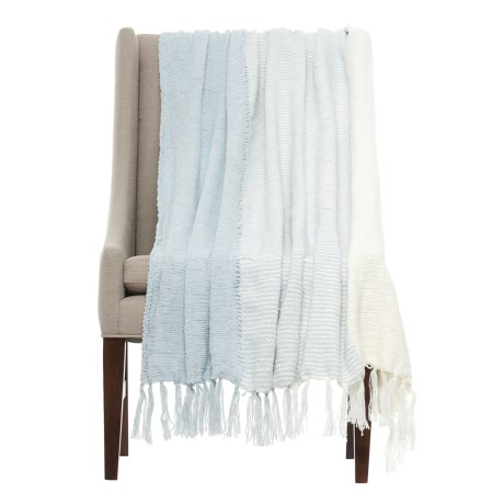 "Kensie Merge Throw Blanket - 50x60"" in Illusion Blue"