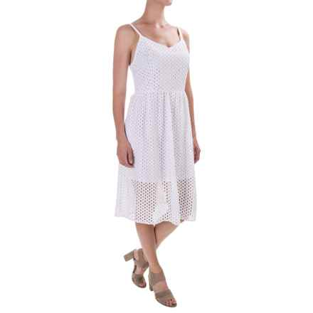 Kensie Mesh Lace Dress - Sleeveless (For Women) in White - Closeouts