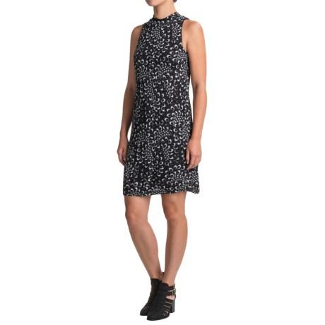Kensie Printed Dress - Sleeveless (For Women) in Heather Grey Combo