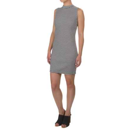 Kensie Ribbed Stripe Dress - Sleeveless (For Women) in White Combo - Closeouts
