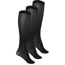 Kensie Solid Trouser Socks - 3-Pack, Over the Calf (For Women) in Black - Closeouts