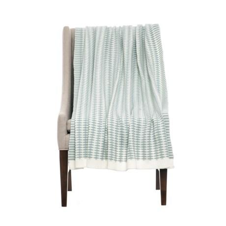 """Kensie Squiggly Throw Blanket - 50x60"""" in Blue"""