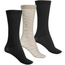 Kensie Trouser Socks - 3-Pack, Over the Calf (For Women) in Taupe/Black - Closeouts