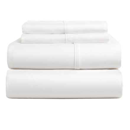 Kensington Manor Cotton Sateen Sheet Set - King, 600 TC in White - Closeouts