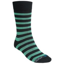 Kentwool 19th Hole Collection Golf Socks - Striped, Merino Wool (For Men) in Black/Green