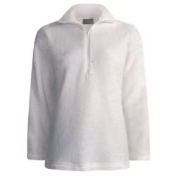Kenyon High-Loft Polartec® Fleece Pullover - Zip Neck (For Women) in White