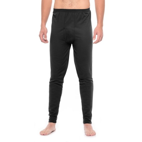 Kenyon Midweight Waffle Base Layer Pants (For Tall Men) in Black