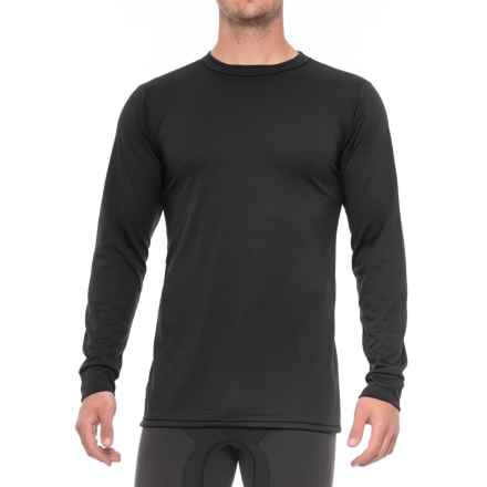 Kenyon Midweight Waffle Base Layer Top - Crew Neck, Long Sleeve (For Tall Men) in Black - Closeouts