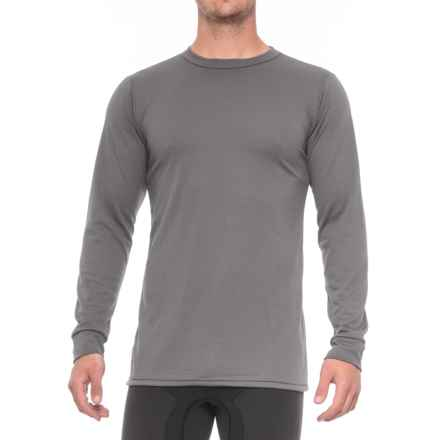 Kenyon Midweight Waffle Base Layer Top - Crew Neck, Long Sleeve (For Tall Men) in Grey - Closeouts