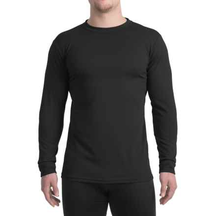 Kenyon Midweight Waffle-Knit Shirt - Crew Neck, Long Sleeve (For Men) in Black - Closeouts