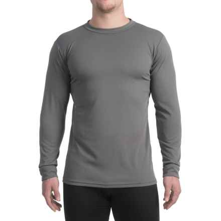 Kenyon Midweight Waffle-Knit Shirt - Crew Neck, Long Sleeve (For Men) in Grey - Closeouts