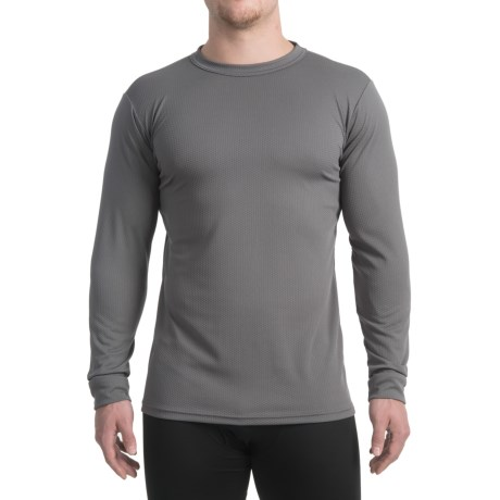 Kenyon Midweight Waffle-Knit Shirt - Crew Neck, Long Sleeve (For Men) in Grey