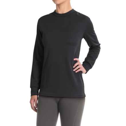 Kenyon Midweight Waffle-Knit Shirt - Crew Neck, Long Sleeve (For Women) in Black - Closeouts