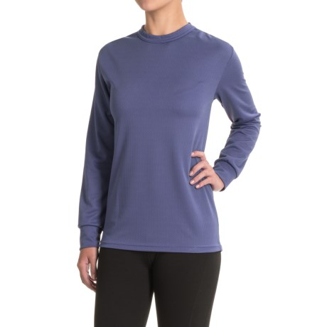 Kenyon Midweight Waffle-Knit Shirt - Crew Neck, Long Sleeve (For Women) in Mid Blue