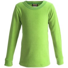 Kenyon Polarskins Base Layer Top - Expedition Weight, Long Sleeve (For Boys and Girls) in Green - Closeouts
