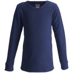 Kenyon Polarskins Base Layer Top - Expedition Weight, Long Sleeve (For Boys and Girls) in Black
