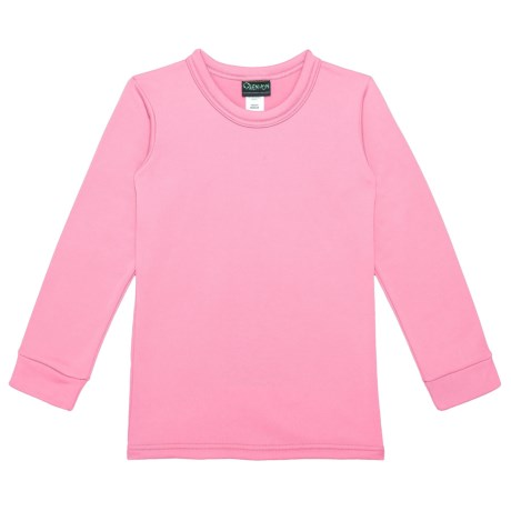 Kenyon Polarskins Base Layer Top - Expedition Weight, Long Sleeve (For Boys and Girls) in Pink