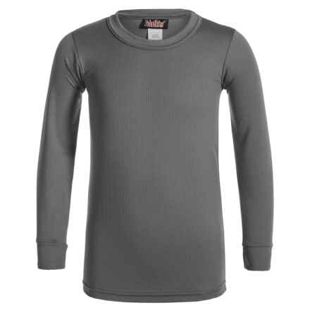 Kenyon Polarskins Base Layer Top - Long Sleeve (For Big Boys and Girls) in Charcoal Grey - Closeouts