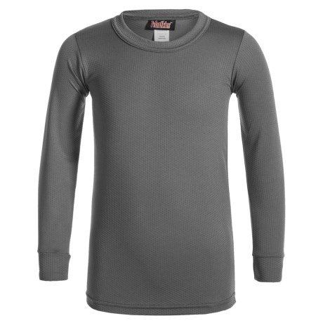 Kenyon Polarskins Base Layer Top - Long Sleeve (For Big Boys and Girls) in Charcoal Grey