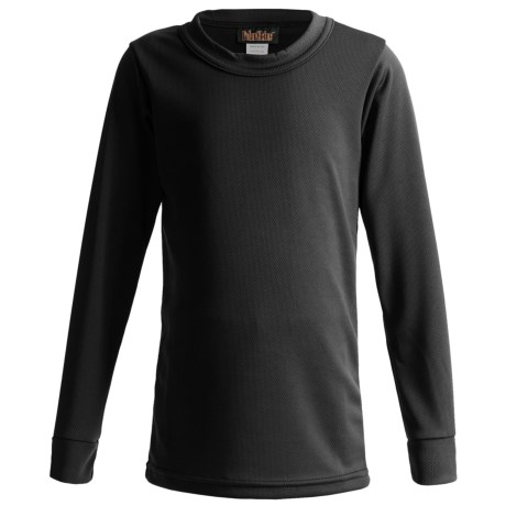 Kenyon Polarskins Base Layer Top - Midweight, Long Sleeve (For Boys and Girls) in Black