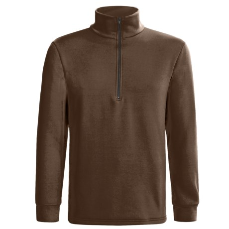 Kenyon Polartec® Power Stretch® Base Layer Top - Heavyweight, Zip Neck, Long Sleeve (For Men) in Brown