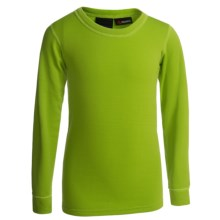 Kenyon Polartec® Power Stretch® Base Layer Top - Lightweight, Long Sleeve (For Youth) in Green - Closeouts