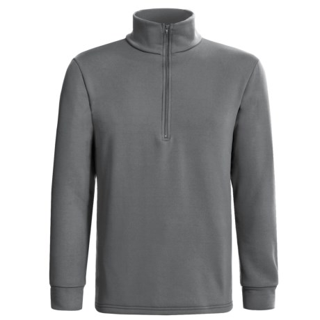Kenyon Polartec® Power Stretch® Base Layer Top - Zip Neck, Long Sleeve (For Men) in Grey