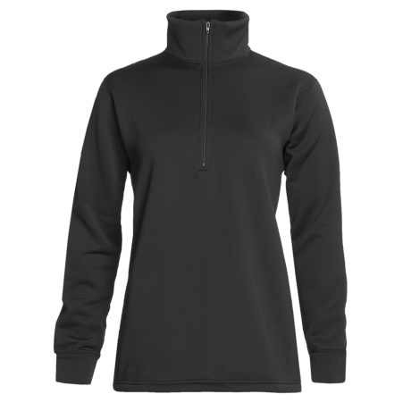 Kenyon Polartec® Power Stretch® Base Layer Top - Zip Neck, Long Sleeve (For Women) in Black