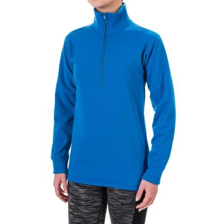 Kenyon Polartec® Power Stretch® Base Layer Top - Zip Neck, Long Sleeve (For Women) in Blue