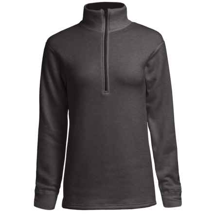 Kenyon Polartec® Power Stretch® Base Layer Top - Zip Neck, Long Sleeve (For Women) in Charcoal Heather - Closeouts