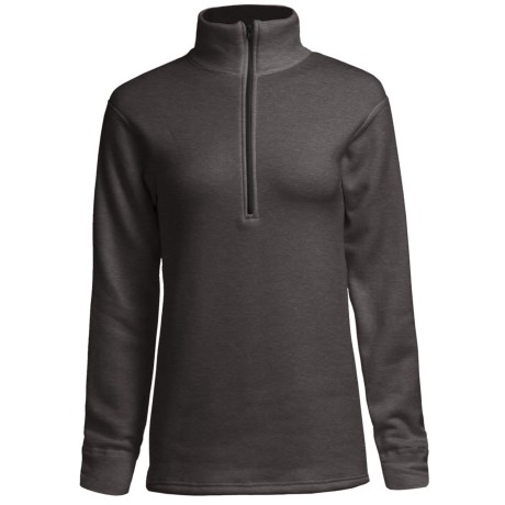 Kenyon Polartec® Power Stretch® Base Layer Top - Zip Neck, Long Sleeve (For Women) in Charcoal Heather