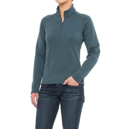 Kenyon Polartec® Power Stretch® Base Layer Top - Zip Neck, Long Sleeve (For Women) in Grey Blue - Closeouts