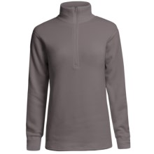 Kenyon Polartec® Power Stretch® Base Layer Top - Zip Neck, Long Sleeve (For Women) in Grey - Closeouts
