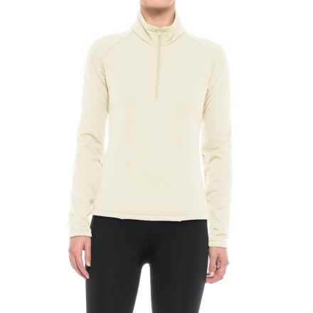Kenyon Polartec® Power Stretch® Base Layer Top - Zip Neck, Long Sleeve (For Women) in Ivory - Closeouts