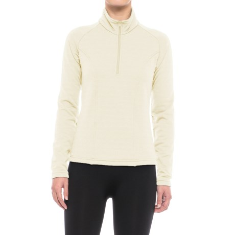 Kenyon Polartec® Power Stretch® Base Layer Top - Zip Neck, Long Sleeve (For Women) in Ivory