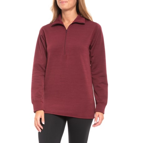 Kenyon Polartec® Power Stretch® Base Layer Top - Zip Neck, Long Sleeve (For Women) in Maroon