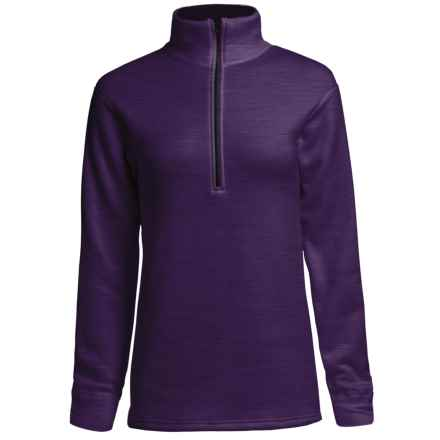 Kenyon Polartec® Power Stretch® Base Layer Top - Zip Neck, Long Sleeve (For Women) in Purple Heather - Closeouts