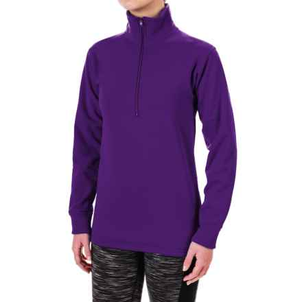 Kenyon Polartec® Power Stretch® Base Layer Top - Zip Neck, Long Sleeve (For Women) in Purple - Closeouts