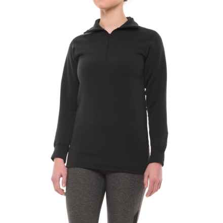 Kenyon Polartec® Power Wool® Base Layer Top - Zip Neck, Long Sleeve (For Women) in Black - 2nds