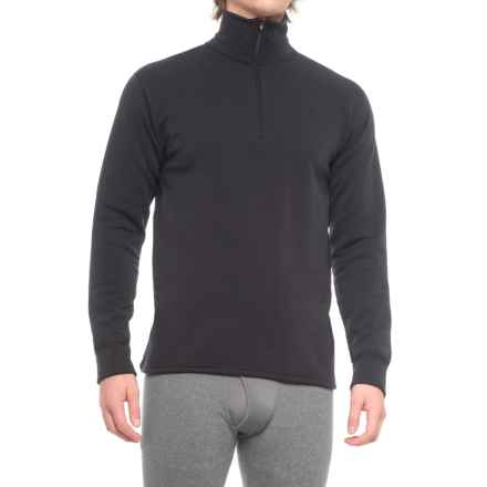Kenyon Polartec® Power Wool® Fleece Base Layer Top - Zip Neck, Long Sleeve (For Men) in Black - 2nds